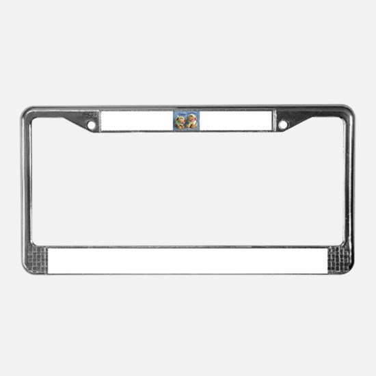Happy Easter Lambs License Plate Frame