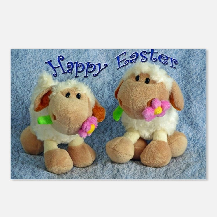 Happy Easter Lambs Postcards (Package of 8)