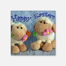 Happy Easter Lambs Sticker