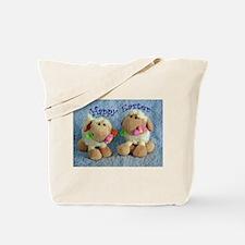 Happy Easter Lambs Tote Bag