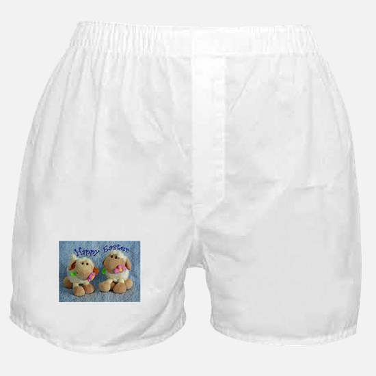 Happy Easter Lambs Boxer Shorts