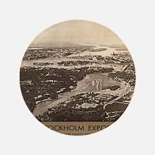 """Vintage poster - Stockholm 3.5"""" Button (100 pack)"""