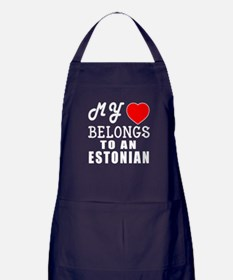 I Love Estonian Apron (dark)
