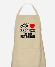 I Love Estonian Apron