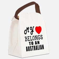 I Love Australian Canvas Lunch Bag