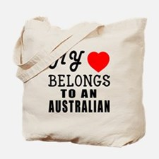 I Love Australian Tote Bag