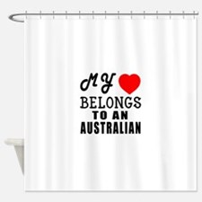 I Love Australian Shower Curtain