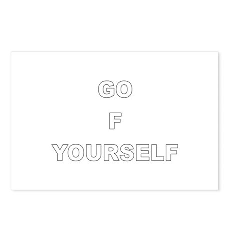 Go F Yourself Postcards (Package of 8)