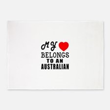 I Love Australian 5'x7'Area Rug