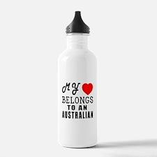 I Love Australian Water Bottle