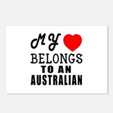 I Love Australian Postcards (Package of 8)