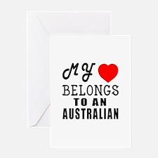 I Love Australian Greeting Card