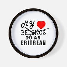 I Love Eritrean Wall Clock