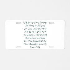 Leverage Aluminum License Plate
