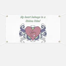 My heart belongs...Bichon Frise Banner