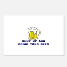 Shut Up And Drink Your Beer Postcards (Package of