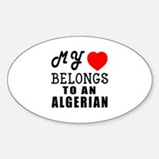 I Love Algerian Decal
