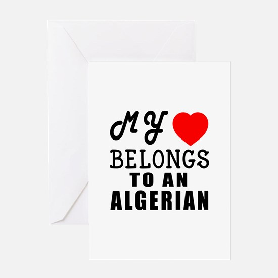 I Love Algerian Greeting Card