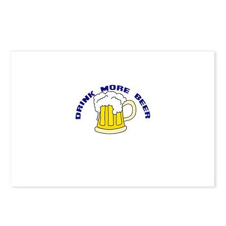 Drink More Beer Postcards (Package of 8)