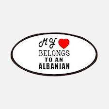 I Love Albanian Patch