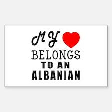 I Love Albanian Decal