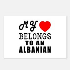 I Love Albanian Postcards (Package of 8)