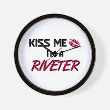 Kiss Me I'm a RIVETER Wall Clock