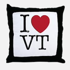 I Heart VT Vermont Throw Pillow