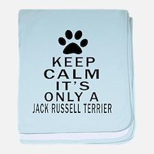 Jack Russell Terrier Keep Calm Design baby blanket