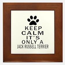 Jack Russell Terrier Keep Calm Designs Framed Tile