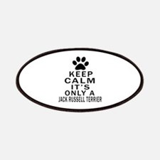 Jack Russell Terrier Keep Calm Designs Patch
