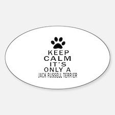 Jack Russell Terrier Keep Calm Desi Sticker (Oval)