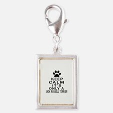 Jack Russell Terrier Keep Ca Silver Portrait Charm