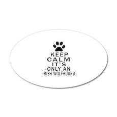Irish Wolfhound Keep Calm De Wall Decal