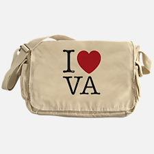 I Love VA Virginia Messenger Bag