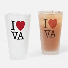 I Love VA Virginia Drinking Glass