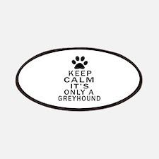 Greyhound Keep Calm Designs Patch