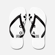 Greater Swiss Mountain Dog Keep Calm De Flip Flops