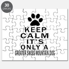 Greater Swiss Mountain Dog Keep Calm Design Puzzle