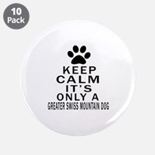 """Greater Swiss Mountain Dog K 3.5"""" Button (10 pack)"""