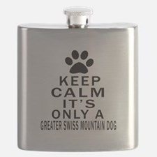 Greater Swiss Mountain Dog Keep Calm Designs Flask