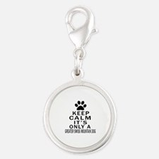 Greater Swiss Mountain Dog Kee Silver Round Charm