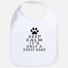 Great Dane Keep Calm Designs Bib