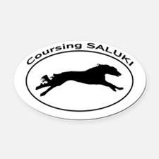 SALUKI Coursing Oval Car Magnet