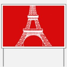 EIFFEL TOWER RED WHITE 1 Yard Sign