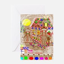 Ginger Bread Family/Christmas Greeting Card