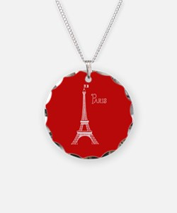 EIFFEL TOWER RED WHITE 1 Necklace