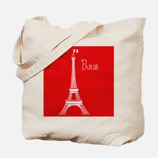 EIFFEL TOWER RED WHITE 1 Tote Bag