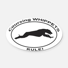 WHIPPET Coursing Oval Car Magnet