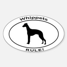 WHIPPETS RULE Decal